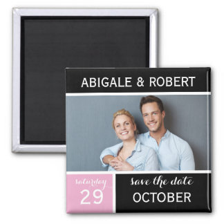 Save The Date Magnet | Block Square