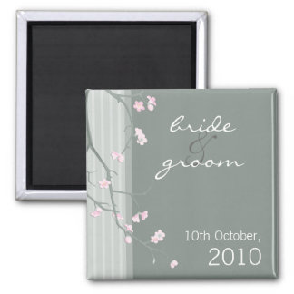 SAVE THE DATE MAGNET :: cherry blossom