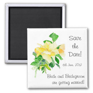 'Save the Date' Magnet, Dreaming Spires Roses Square Magnet