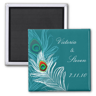 Save the Date Magnet - Elegant Peacock