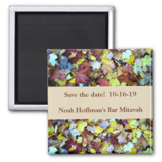 Save the Date Magnet for Fall Leaves