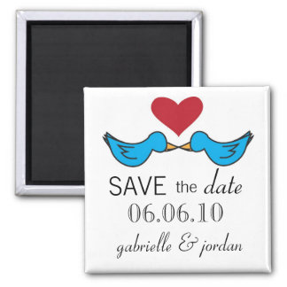 Save the Date Magnet Lovebirds