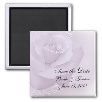 Save the Date Magnet - Pastel Rose