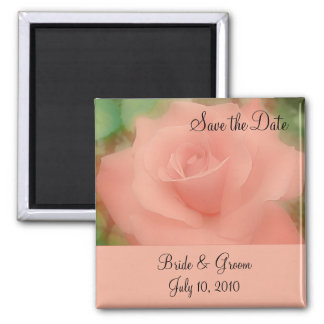 Save the Date Magnet - Peach Rose