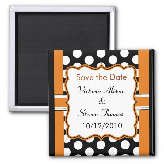 Save the Date Magnet - Polka Dot