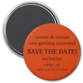 SAVE THE DATE magnet - sienna and chocolate