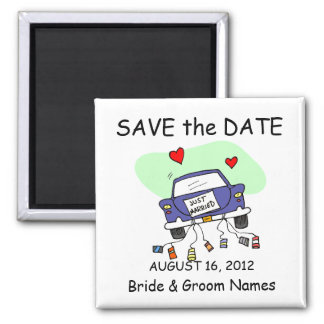 Save the Date Magnet Wedding Just Married Clipart Magnet