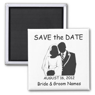 Save the Date Magnets Wedding Couple Clipart