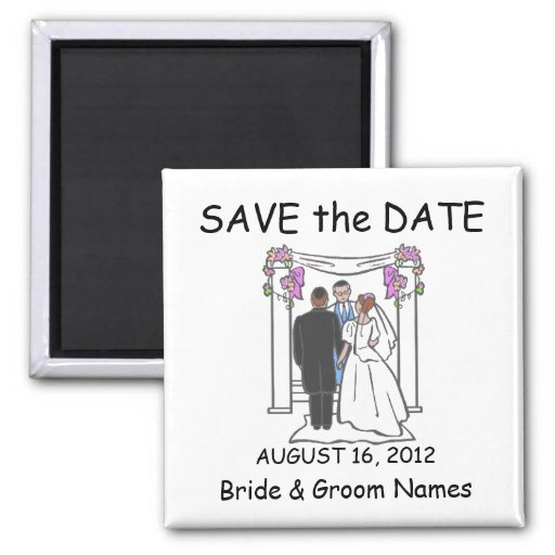 Save the Date Magnets Wedding Jewish Clipart Refrigerator Magnet