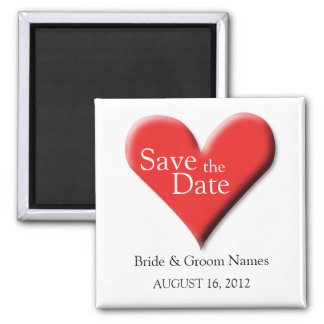 Save the Date Magnets Wedding Red Heart Clipart