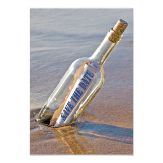 """""""Save The Date"""" message in a bottle Card"""