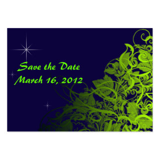 Save the Date Midnight Pack Of Chubby Business Cards