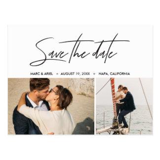 Save The Date Minimalist Postcard