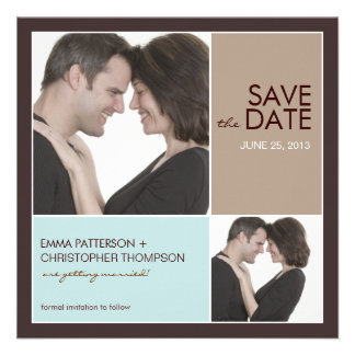Save the Date Modern Blocks Photo Announcement