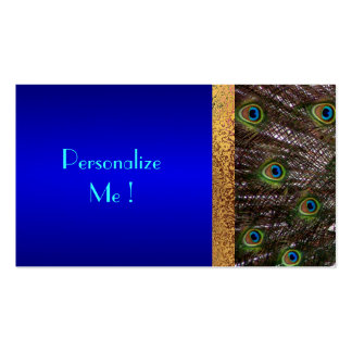 Save-the-Date Modern Elegant Chic Peacock Bride Pack Of Standard Business Cards
