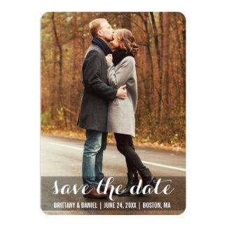 Save The Date Modern Engagement Photo Card LWBR