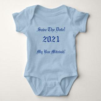 Save The Date!, My Bar Mitzvah!, 2021 Baby Bodysuit