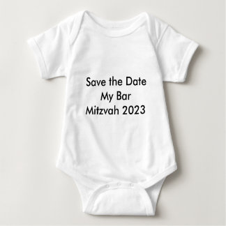 Save the Date My Bar Mitzvah 2023 Baby Bodysuit