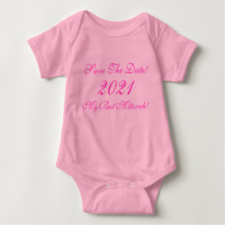 Save The Date!, My Bat Mitzvah!, 2021 Baby Bodysuit