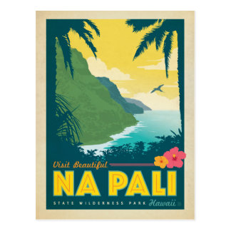 Save the Date - Na Pali, Hawaii Postcard
