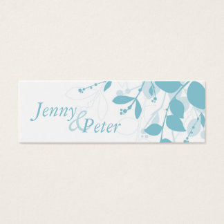 SAVE THE DATE :: natural silhouette landscape Mini Business Card