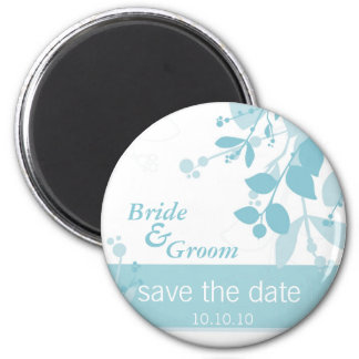 SAVE THE DATE :: nature - ice blue 6 Cm Round Magnet