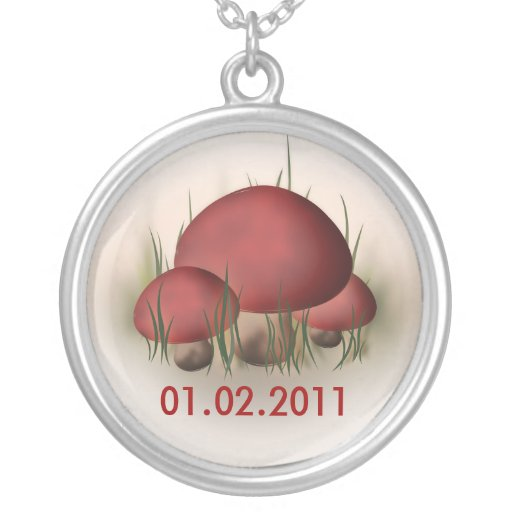 Save The Date Nature Jewelry Mushroom Necklace