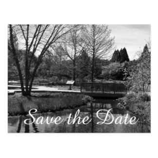 Save the Date Nature Scene Postcard