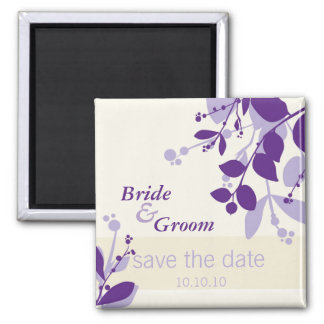 SAVE THE DATE :: nature - vanilla lilac purple Square Magnet