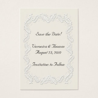 Save the Date Neutral Business Card