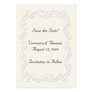 Save the Date Neutral Pack Of Chubby Business Cards