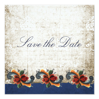 Save the Date Norwegian Rosemaling Custom Card