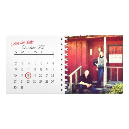 Save The Date (OCT 2011) Photo Card
