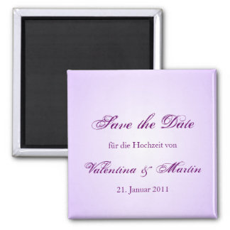 Save the DATE of magnets in purple for your weddin
