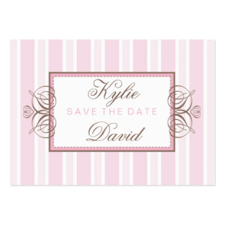 SAVE THE DATE :: paris stripe Pack Of Chubby Business Cards