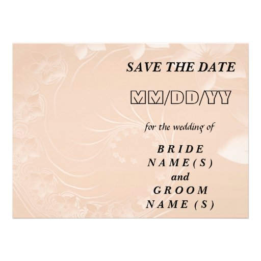 Save the Date - Pastel Brown Abstract Flowers Announcements