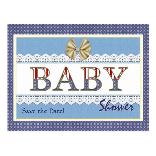 Save the Date Patriotic Baby Shower Postcard Post Cards