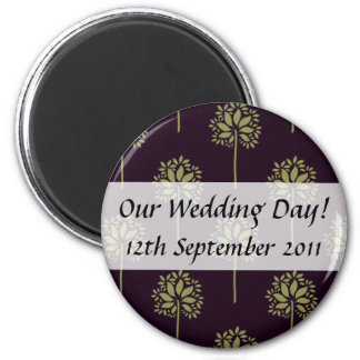 Save The Date Patterned Magnet
