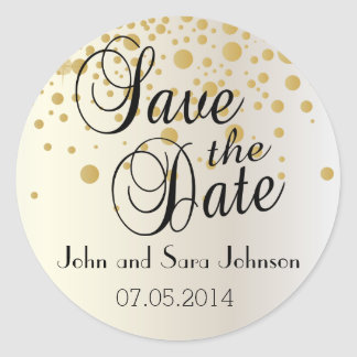Save the Date | Personalize Round Sticker