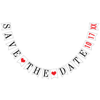 SAVE THE DATE: PERSONALIZED WEDDING DATE BUNTING