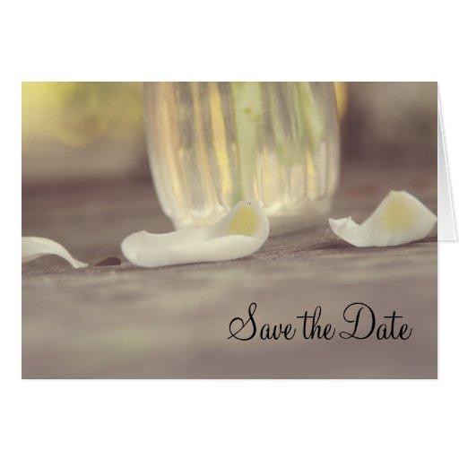Save the Date Petal Card