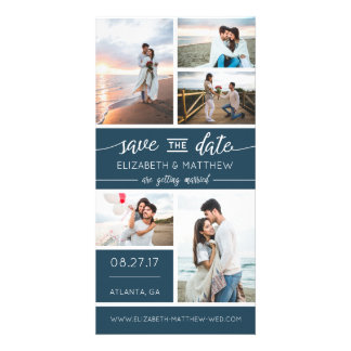 Save The Date Photo Announcement, Editable Color Photo Card Template