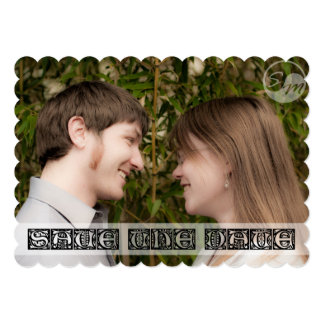 Save the Date: Photo Box Letters by Sacred Memorie Card