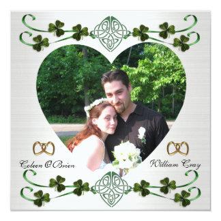 Save the date photo card Irish wedding Unity knot