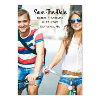 Save the Date Photo Card   Trendy, Modern, Casual 13 Cm X 18 Cm Invitation Card