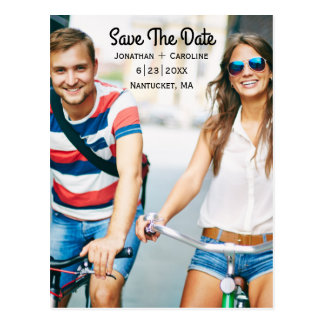 Save the Date Photo Card   Trendy, Modern, Casual Postcard
