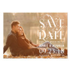 Save the Date Photo - Floral Flourish Typography Card