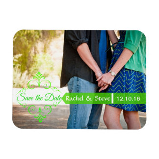 Save the Date Photo Magnets in Green