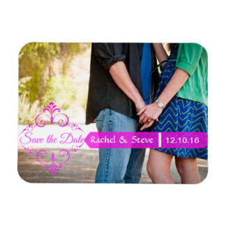 Save the Date Photo Magnets in Pink