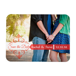 Save the Date Photo Magnets in Red